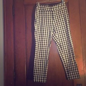 Loft Checkered Ankle Pants